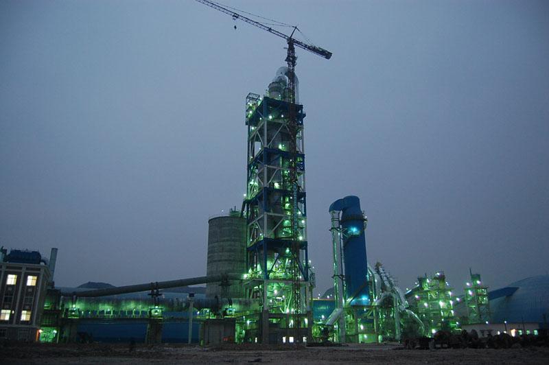 南阳恒新日产3200吨水泥熟料生产线安装工程