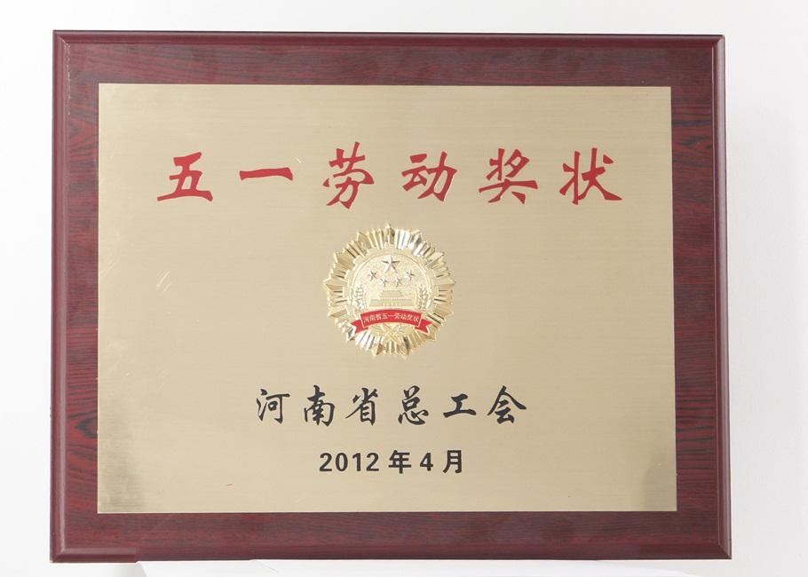 2012河南省五一劳动奖状